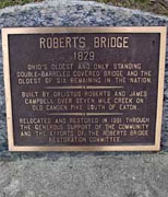 Roberts Bridge Historical Marker